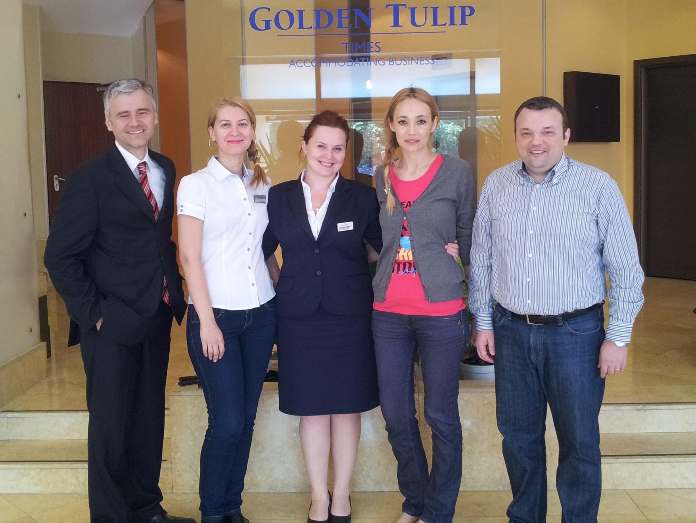 Impreuna cu echipa hotelului Golden Tulip Times - Bucuresti